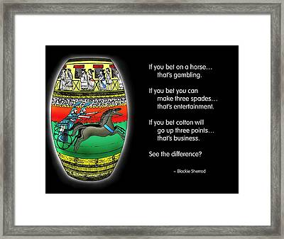 Gambling Framed Print by Mike Flynn