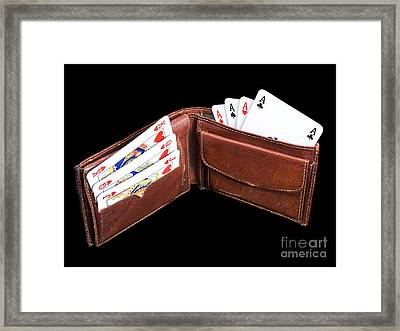 Gambling Wallet Framed Print by Sinisa Botas