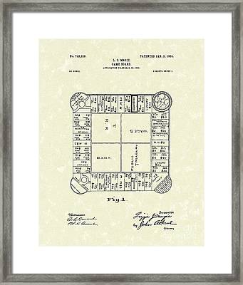 Game Board 1904 Patent Art Framed Print