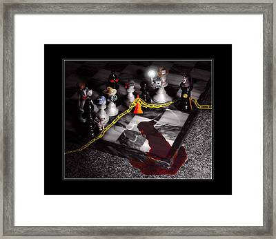 Game - Chess - It's Only A Game Framed Print by Mike Savad