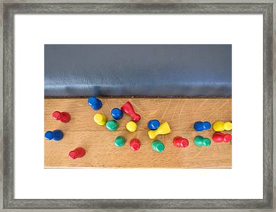 Game Counters Framed Print by Tom Gowanlock