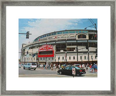 Game Day At Wrigley Framed Print by Steve Wilson