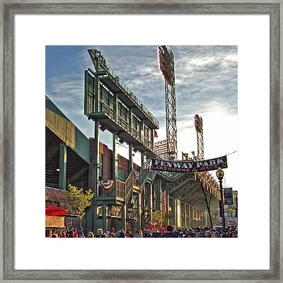 Game Day - Fenway Park Framed Print by Joann Vitali
