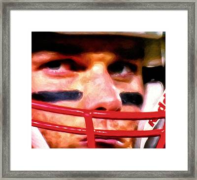 Game Face Framed Print by Michael Pickett