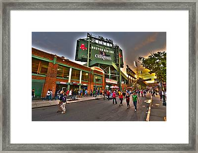 Game Night Fenway Park Framed Print by Toby McGuire