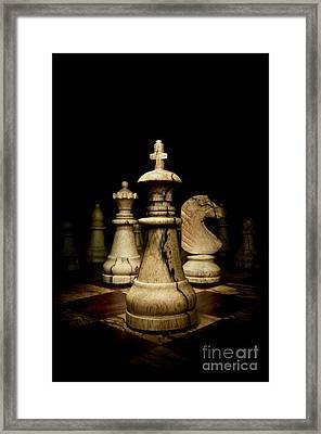 Game Of Chess Framed Print by Oscar Gutierrez