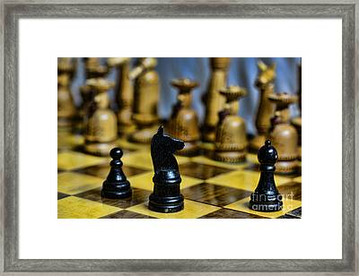 Game Of Chess Framed Print by Paul Ward