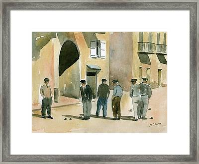 Game Of Petanque Framed Print by Ian Osborne