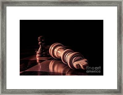 Game Over Framed Print by John Georgiou