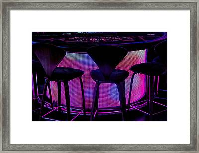 Game Table Framed Print by Tammy Espino