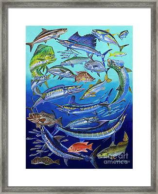 Gamefish Collage In0031 Framed Print by Carey Chen