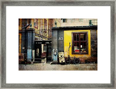 Gamla Stan Street Framed Print by Joan McCool