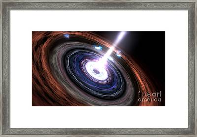 Gamma Rays In Active Galactic Nuclei Framed Print