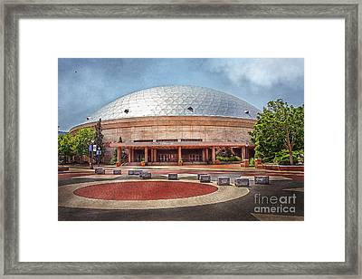 Gampel Pavilion - Uconn Huskies Framed Print by Steve Pfaffle