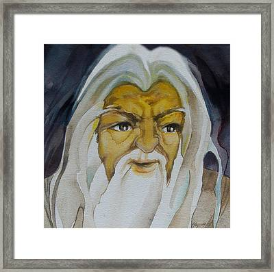 Gandalf Headstudy Framed Print by Patricia Howitt