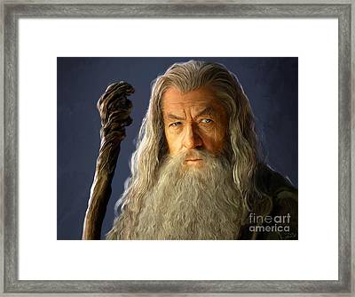 Gandalf Framed Print by Paul Tagliamonte