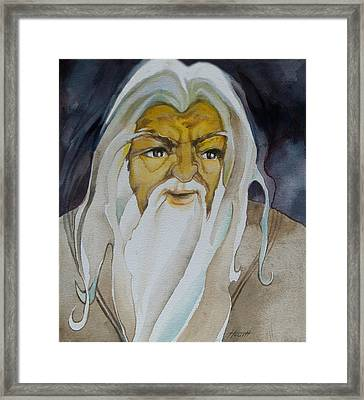 Gandalf The White Framed Print by Patricia Howitt