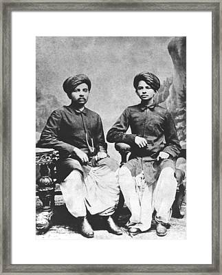 Gandhi Brothers Framed Print by Underwood Archives