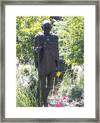 Gandhi In Union Square Framed Print by James Dolan
