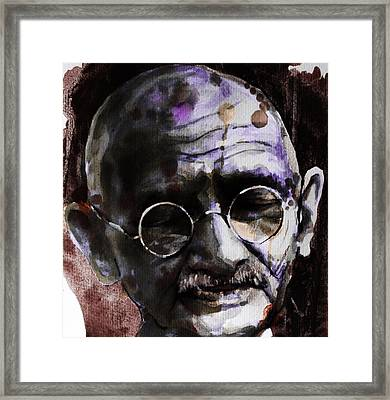 Framed Print featuring the painting Gandhi by Laur Iduc