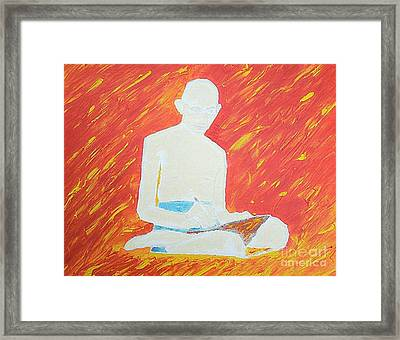 Gandhi Framed Print by Richard W Linford