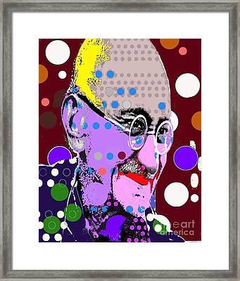 Gandhi Framed Print by Ricky Sencion