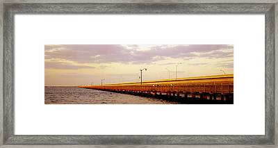 Gandy Bridge Tampa Bay Tampa Fl Framed Print by Panoramic Images