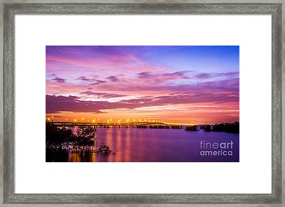 Gandy Lights Framed Print