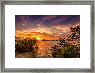Gandy Sunset Framed Print