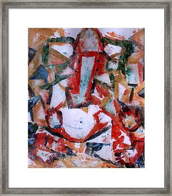 Framed Print featuring the painting Ganesh- A-2 by Anand Swaroop Manchiraju