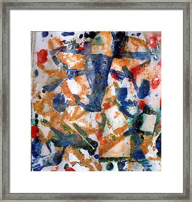 Framed Print featuring the painting Ganesh-a1 by Anand Swaroop Manchiraju