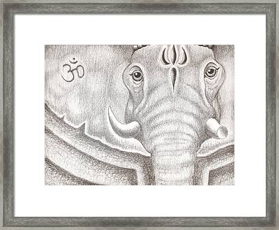 Ganesh Framed Print by Adam Wood