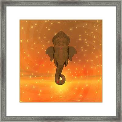 Ganesh II Framed Print by Harald Dastis