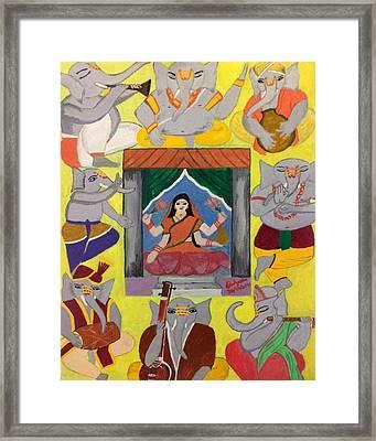 Ganesh Lakshmi Framed Print by Pratyasha Nithin
