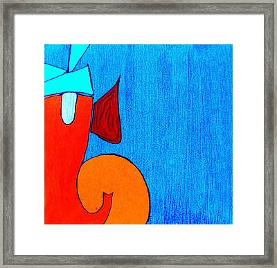 3 Ganesh Lambodaray Framed Print by Kruti Shah