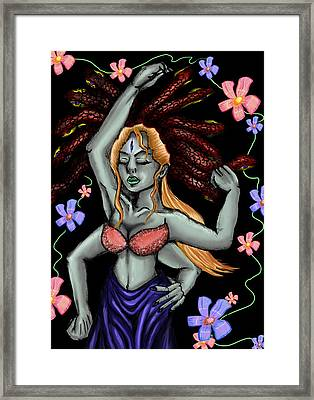 Ganesh The Gorgon Framed Print by Sarah Reed