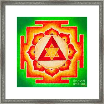 Ganesh Yantra Is A Powerful Tool That Removes All The Obstacles Framed Print by Raimond Klavins