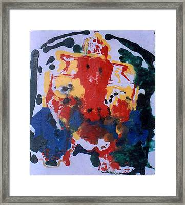 Framed Print featuring the painting Ganesha-a-5 by Anand Swaroop Manchiraju