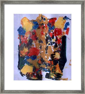 Framed Print featuring the painting Ganesha-a4 by Anand Swaroop Manchiraju