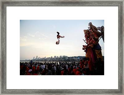 Ganesha Blessings Framed Print by Money Sharma