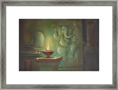 Ganesha Buddhipriya Framed Print by Durshit Bhaskar