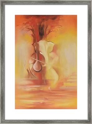 Ganesha Buddhividhata Framed Print by Durshit Bhaskar