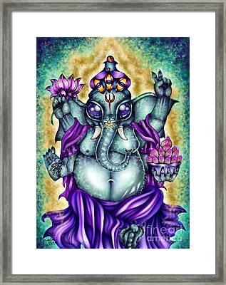 Ganesha Framed Print by Coriander  Shea