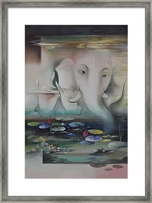 Ganesha Ganadhakshya Framed Print by Durshit Bhaskar