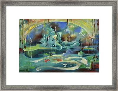 Ganesha Kaveesha Framed Print by Durshit Bhaskar