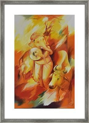 Ganesha Mrityuanjaya Framed Print by Durshit Bhaskar