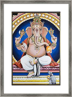 Ganesha Painting Framed Print by Tim Gainey