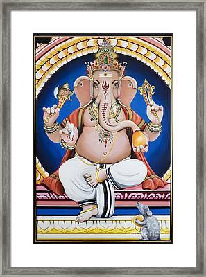 Ganesha Painting Framed Print