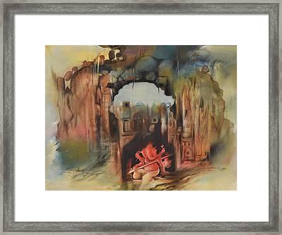 Ganesha Shashivarnam Framed Print by Durshit Bhaskar