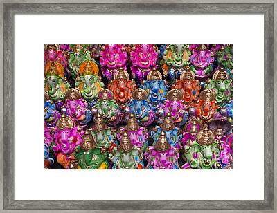 Ganesha Statue Pattern Framed Print by Tim Gainey